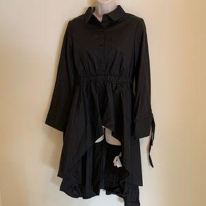English Factory Women's High Low Blouse Black